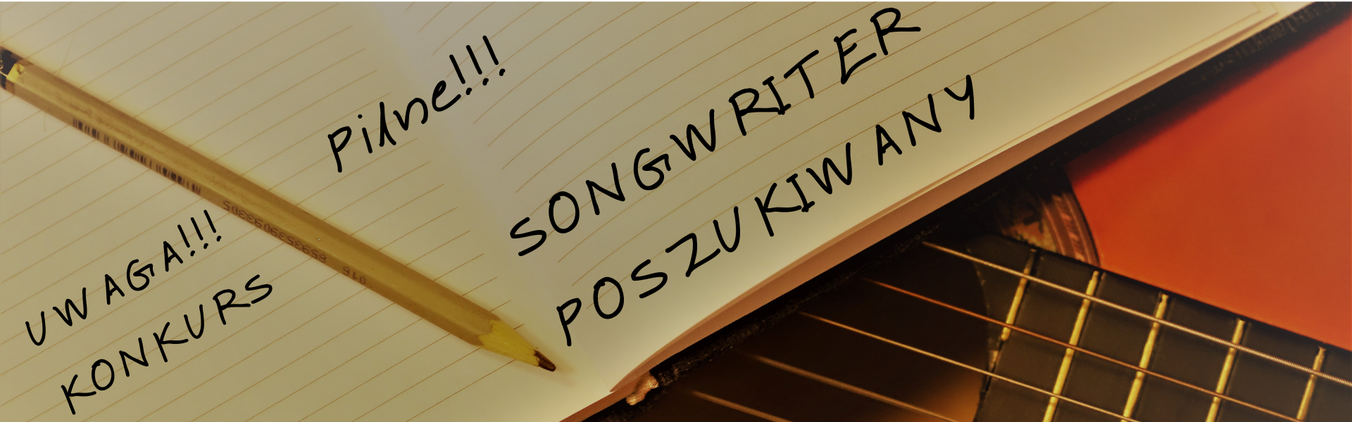Baner informujący o konkursie Songwriter Poszukiwany