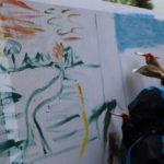 Pomalowane płótno malarskie