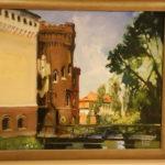 Obraz z widokiem zamku w Kórnikuu