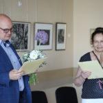 Kuratorka wystawy i burmistrz Gminy Mosina