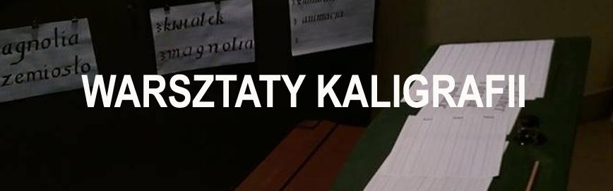 Warsztaty kaligrafii banner